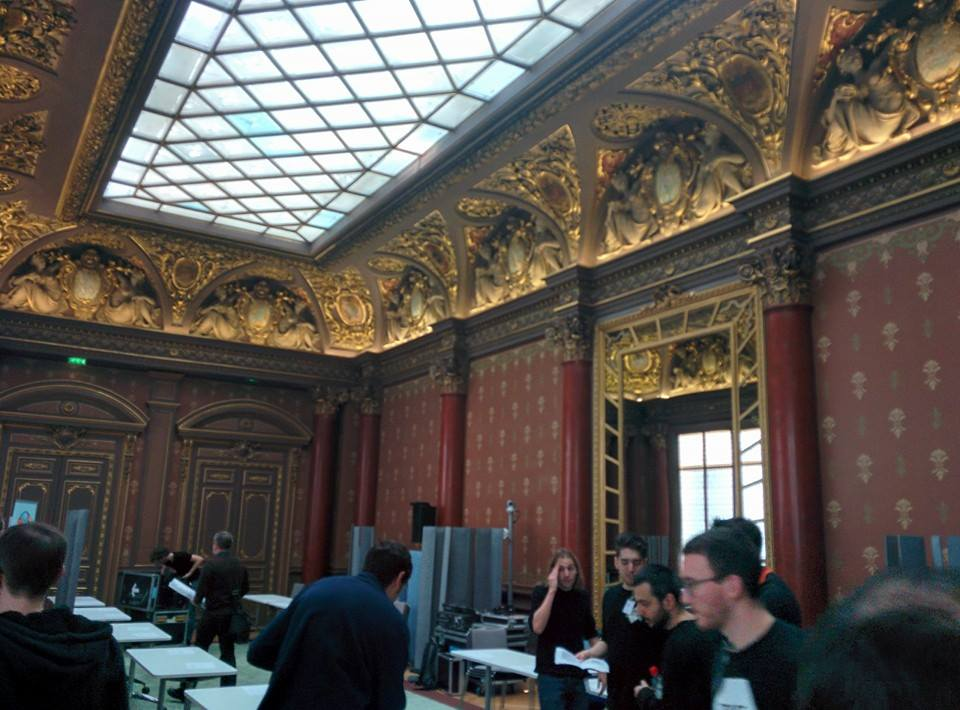 Grand hall from Mozilla office in Paris