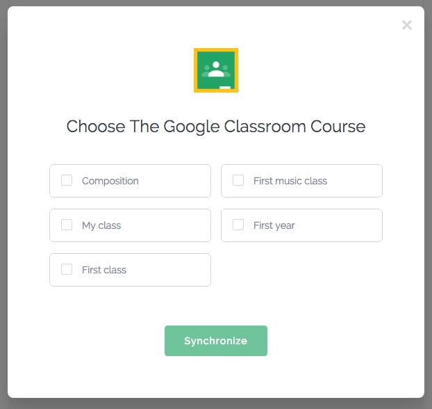 Google Classroom students list synchronization