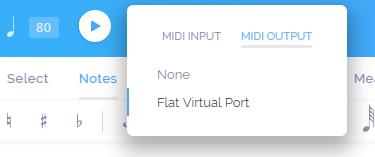 Flat MIDI output port