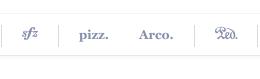 Pizz. arco. buttons