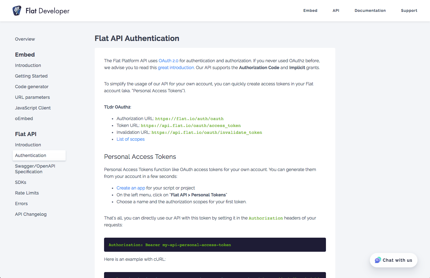 Flat Platform API documentation