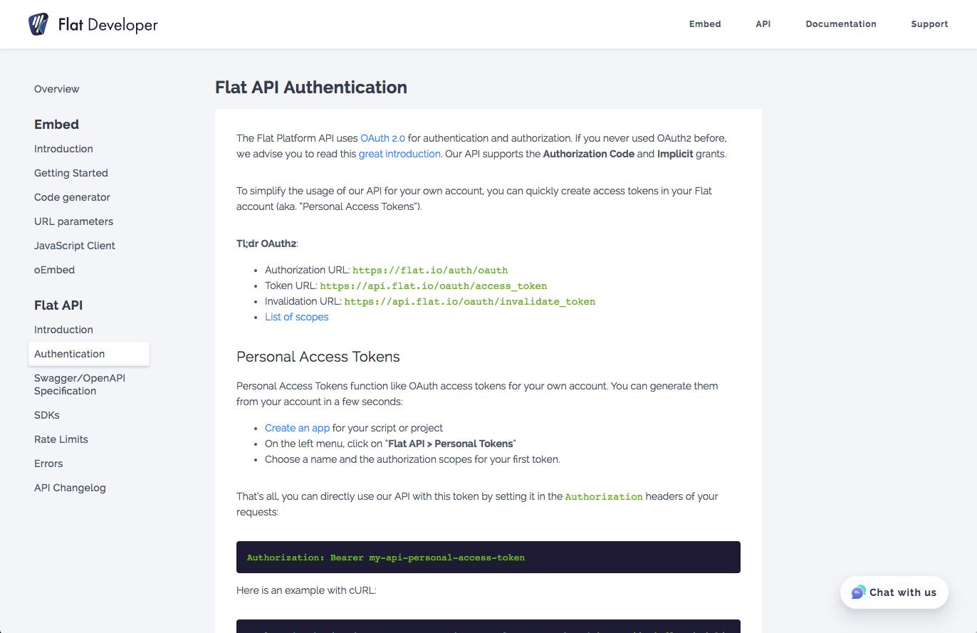 Flat Platform API documentation