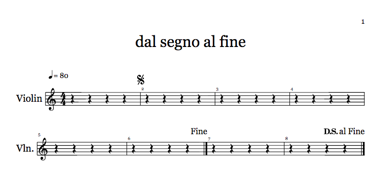 D.S. al Fine