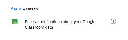 Google Classroom: Push permissions