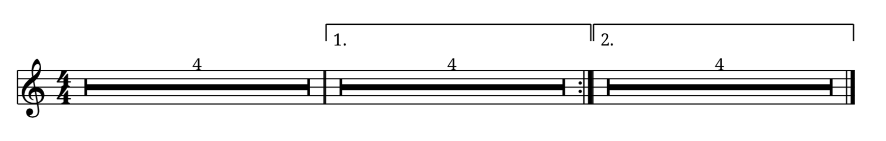 Updated multi-measures rests