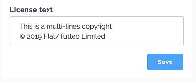 Multi-lines copyright