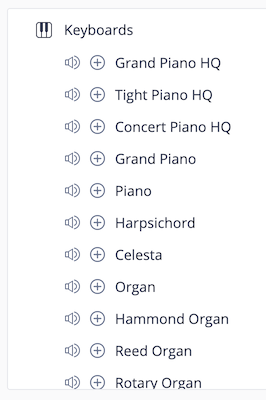 Flat Instruments List