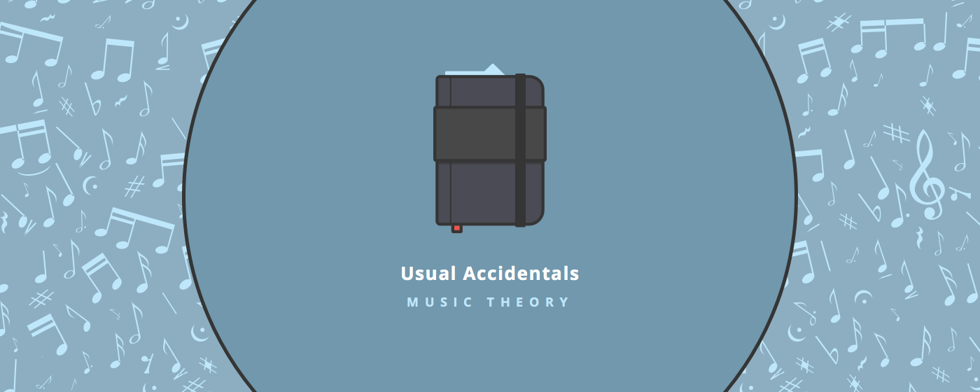 Music theory : accidentals 1/2 : usual accidentals