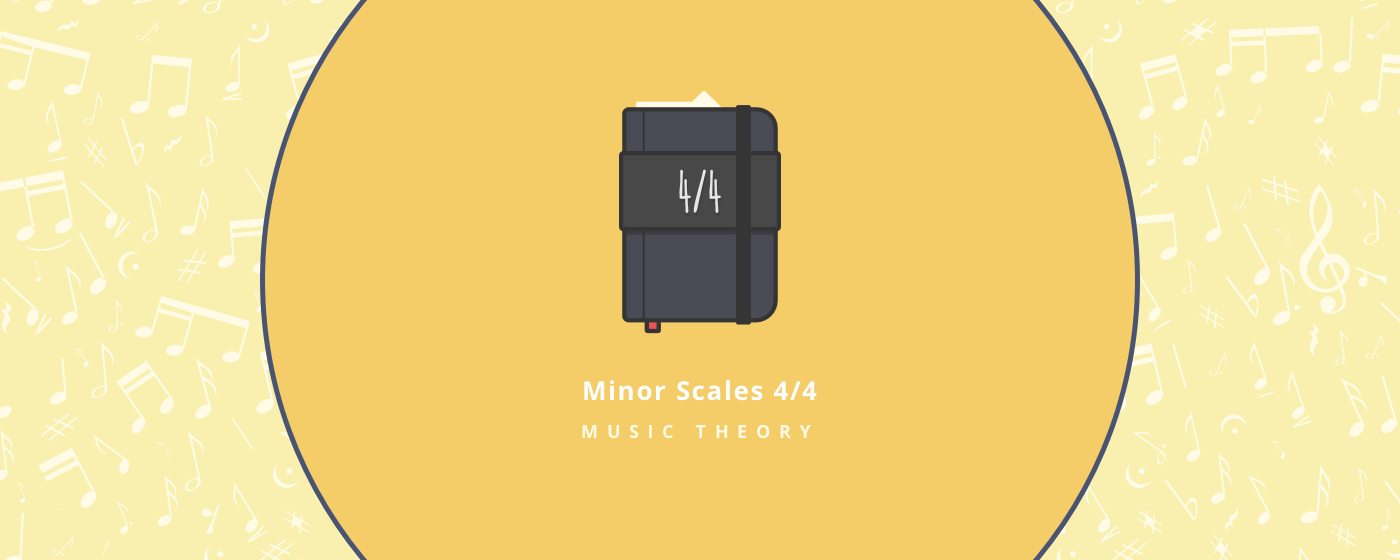 Music theory : minor scales 4/4 : melodic minor