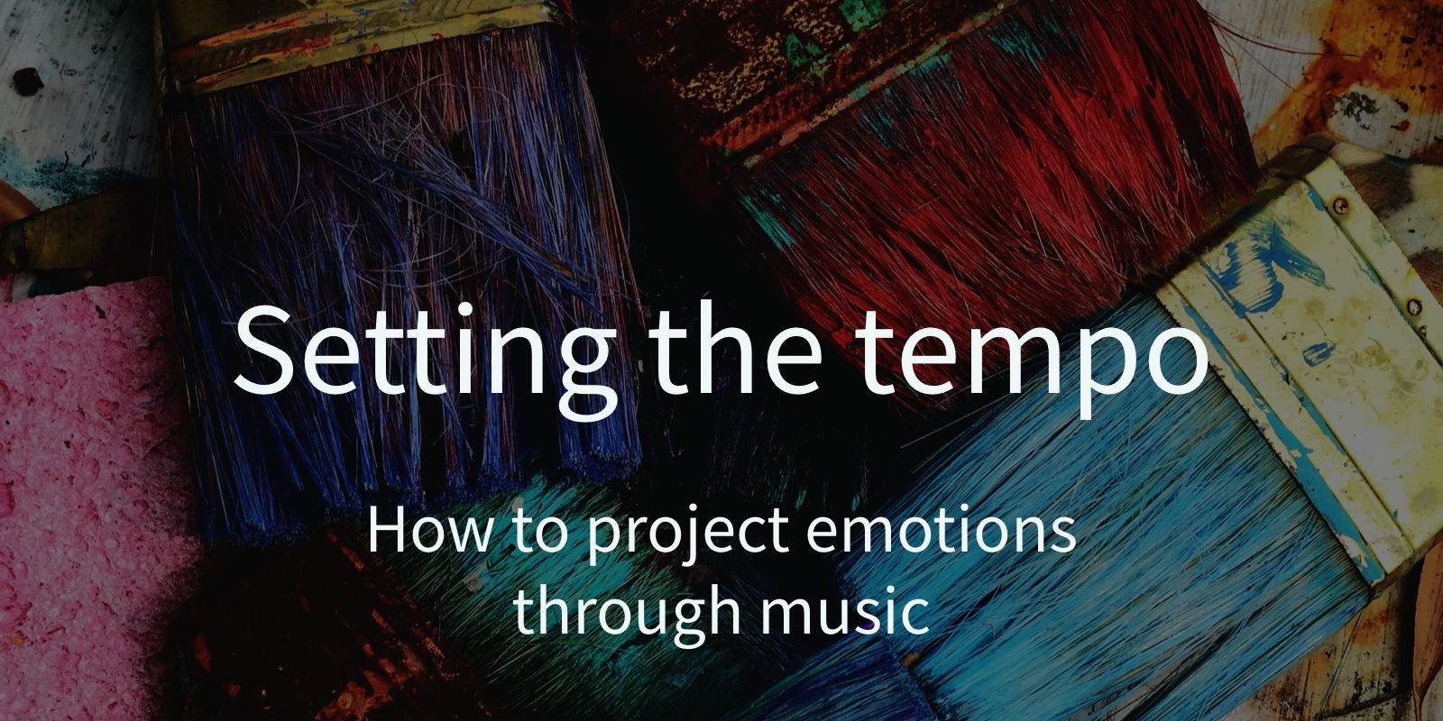 How to project emotions through music: setting the tempo