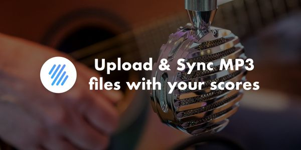 Upload and Synchronize MP3 files with your scores